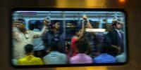 Metro commuters in Mumbai